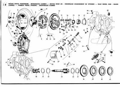 Vue eclat e de moteur mes vespa une de mes passions - Vue eclatee moteur ...