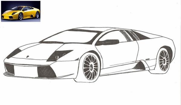 31 me dessin lamborghini les dessinateurs du dimanche - Lamborghini a colorier ...